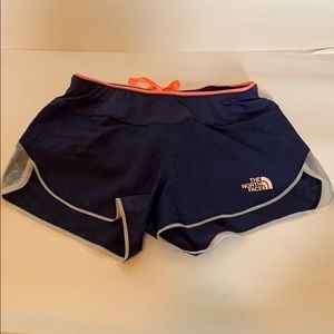 Women's navy blue north face sport shorts size xs